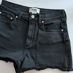 VS pink high waisted shorts size 8